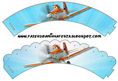 Making My Party!: Airplanes Disney (Planes) - Mini Kit with frames for invitations, labels for snacks, souvenirs and pictures.