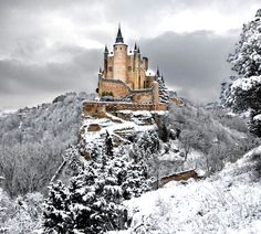 Winter in Alcázar of Segovia, Spain