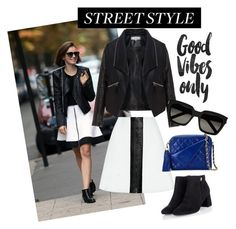 """""""Lily Collins' street style"""" by marhay-ini on Polyvore featuring Carven, Zizzi, Chanel and Yves Saint Laurent"""