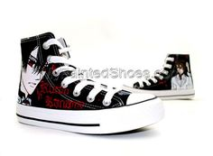 Vampire Knight Kaname Kuran Hand Painted High Top Canvas Shoes Yuki And Kaname, Mode Rose, Painted Canvas Shoes, Unique Christmas Gifts, Vampire Knight, Canvas Sneakers, Cosplay Outfits, Boy Fashion, Girls Shoes