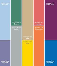 Pantone – 2014 Spring Colours