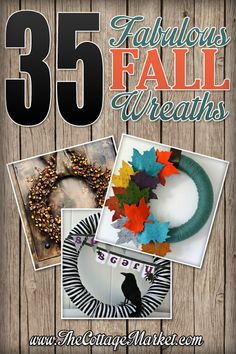 35 Fabulous Fall Wreaths  Get started with this project with great materials from Old Time Pottery!  www.oldtimepottery.com