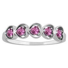 10k White Gold Heart-cut Gemstone Designer Birthstone Ring (Size 8.0 Mar Sky Blue Topaz), Women's