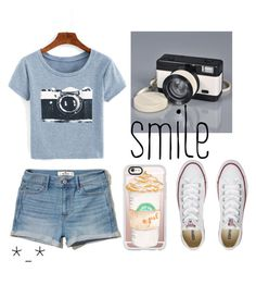 """Untitled #76"" by chica1622 ❤ liked on Polyvore featuring Hollister Co., Converse and Casetify"