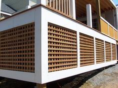 This Wood Storage Shed Takes Advantage The Space Beneath Stairway From Deck