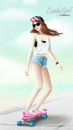 Jennie Enakei on imgfave Korean Illustration, Illustration Girl, Girly M, Girly Girl, Girls In Love, Cute Girls, Anime Korea, Beautiful Fantasy Art, Cute Korean