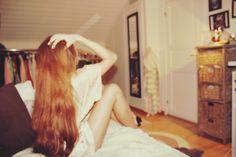 Me - girl - sleep - morning - bedroom - hair - beauty - happiness