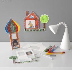 Cei mici pot colora și schimba ramele GLON de câte ori vor. #IKEApentrucopii