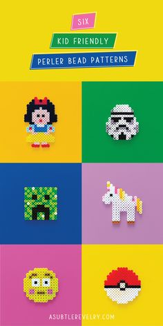 Searching for bead patterns for your next project with your kids? Check out this detailed guide about different perler bead patterns you can use! Easy Perler Bead Patterns, Bead Crochet Patterns, Bead Embroidery Patterns, Loom Patterns, Beading Patterns, Perler Beads, Perler Bead Art, Pixel Art, Melting Beads
