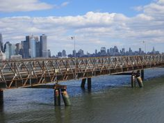 The Bridge connects Ellis Island and Liberty State Park in Jersey City NJ