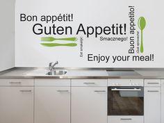 Guten Appetit Wandtattoos für die Küche und das Esszimmer als Idee zur Wandgestaltung :)