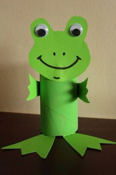 Toilet Paper Roll Crafts - Get creative! These toilet paper roll crafts are a great way to reuse these often forgotten paper products. You can use toilet paper Frog Crafts, Paper Crafts For Kids, Easter Crafts, Arts And Crafts, Easter Ideas, Toddler Art, Toddler Crafts, Children Crafts, Craft Activities