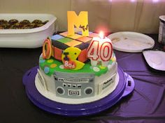 Mandy's 80's cake (with candle)