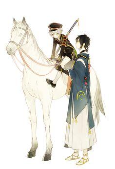 Mikazuki & Hotarumaru   Touken Ranbu