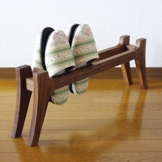 A rack for slippers.