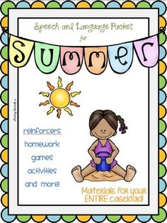 Summer Themed Speech and Language Packet