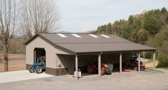 Morton offers customized work shop buildings that are both productive and practical. Learn more about Morton Buildings and the best warranty in the industry! Pole Barn House Plans, Pole Barn Homes, Barn Plans, Garage Plans, Shed Plans, Garage Ideas, Barn Garage, Pole Barns, Garage Shop