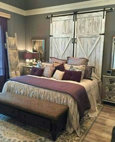 Replica barn door headboard