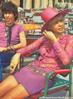 Keith Richards and Anita Pallenberg in *Granny Takes A Trip* outfit