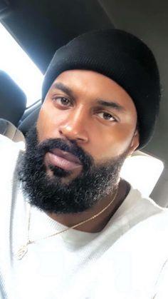 Apr 2019 - Damon/ Just Say the Word by Tiffany Patterson Fine Black Men, Gorgeous Black Men, Handsome Black Men, Beautiful Men, Dark Man, Bald With Beard, Bald Men With Beards, Hot Beards, Black Men Beards