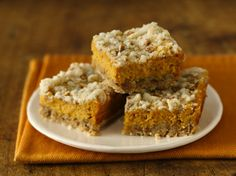 Gluten Free Pumpkin Streusel Cheesecake Bars