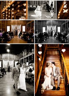 Another wedding where we are getting married. Love the stairs photo and the down the aisle.