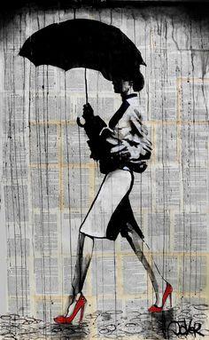 "Saatchi Online Artist: Loui Jover; Ink 2013 Drawing ""up town girl (SOLD)"""