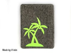 #Reisepasshülle aus #Filz mit Palmen von 11lein auf Etsy, €16,90