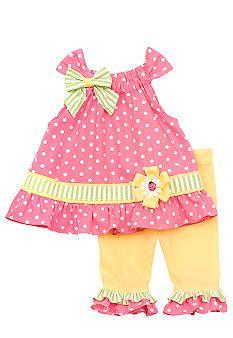 Rare Editions Dot Capri Set Toddler Girls