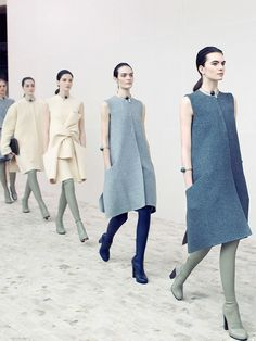 Goodness these would be SEW SIMPLE!!!  abigaildonaldson: Céline Fall/Winter 2013 photographed by Victoria Will
