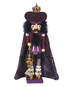Loving this 18'' Hollywood Purple King Nutcracker on #zulily! #zulilyfinds