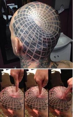 12 Awesome Optical Illusion Tattoos - ODDEE
