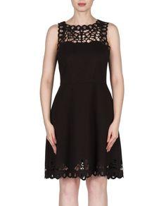 Joseph Ribkoff 173314 Sleeveless Cut Out Dress $286