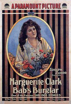 Bab's Burglar (1917) Stars: Marguerite Clark, Leone Morgan, Richard Barthelmess ~ Director: J. Searle Dawley