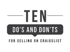 10 Do's and Don'ts For Selling on Craigslist