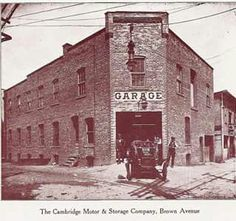 Former Cambridge Motor and Storage on Brown Avenue. Became the location of the Cambridge Dairy. Presently a parking lot.