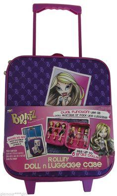 Bratz Rolling Large Suitcase Luggage Discontinued Item NWT RARE #Bratz