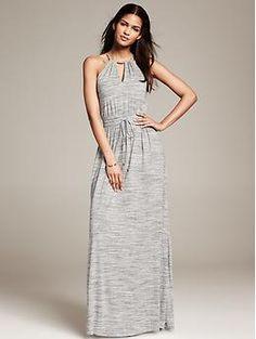 Grey Knit Patio Dress | Banana Republic