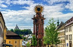 Plague column in the Trinity Square and new castle by day, Banska Stiavnica, Slovakia Photography Website, Nature Photography, Famous Places, Photos Du, Newcastle, Big Ben, Travel Photos, Fine Art America, Wildlife