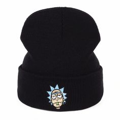 8da575f51fd88 Rick and Morty Embroidery Unisex Knitted Hat