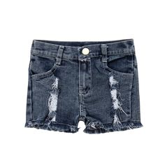 Material: CottonGender: GirlsStyle: CasualFit Type: StraightClosure Type: Button FlyWaist Type: MidFit: Fits true to size, take your normal sizeDepartment Name: ChildrenItem Type: Shorts Toddler Girl Shorts, Toddler Outfits, Girl Toddler, Baby Girls, Ripped Jean Shorts, Distressed Denim Shorts, Hot Pants, Skinny Pants, High Jeans