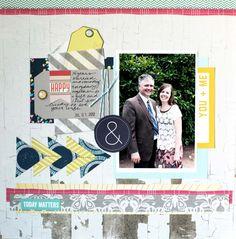 Layout by Lisa Andrews  Scrapbook Circle True Stories kit