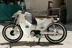 Cb400 Super Four, Moped Bike, Riders On The Storm, Honda Cub, Cafe Racing, 50cc, Honda Motorcycles, Mini Bike, Classic Bikes