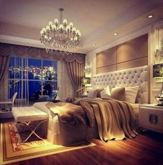 Luxurious romantic master bedroom