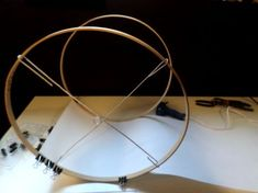 Very thorough picture tutorial on how to make a diy drum lamp shade with poster board and wood embroidery hoops