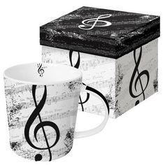 Tasse I love Music im Used-Look in Geschenkbox