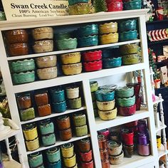 Swan Creek candles are stocked up! #smellssoyummy #christmasscents #potterycandle #greatgifts