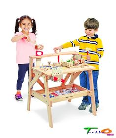 2369 Melissa Doug Wooden Project Workbench Toys Child Carpentry Skills Parental #MelissaDoug