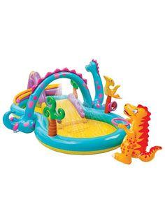 WOW coole Kinder Pools, die auch ohne großen Pool im Garten Planschspaß ohne Ende versprechen. Intex Kinder Pool und Spielcenter, »Dinoland«