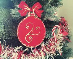"""NOUVEAU Boule de Noël / décoration de Noël """"Triskel """" or rouge : Accessoires de maison par milid"""